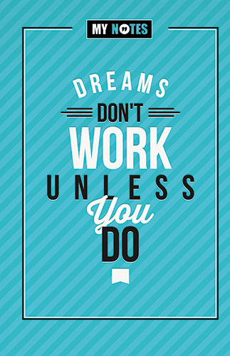 plan boek Dreams don't work unless you do