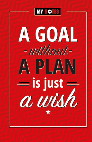 Plan boek- a goal without a plan is just a wish