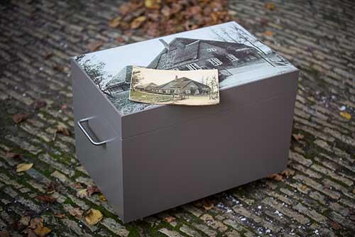 herinneringsbox met persoonlijke afbeelding