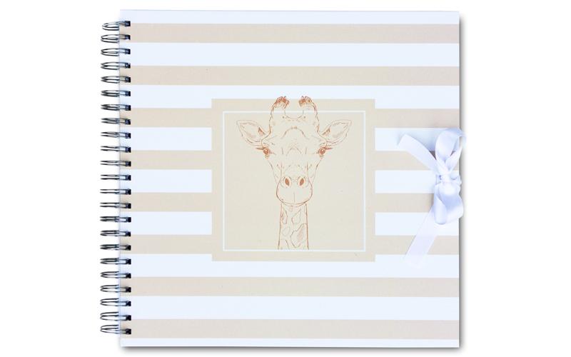 Plakboek-scrapbook-Giraf