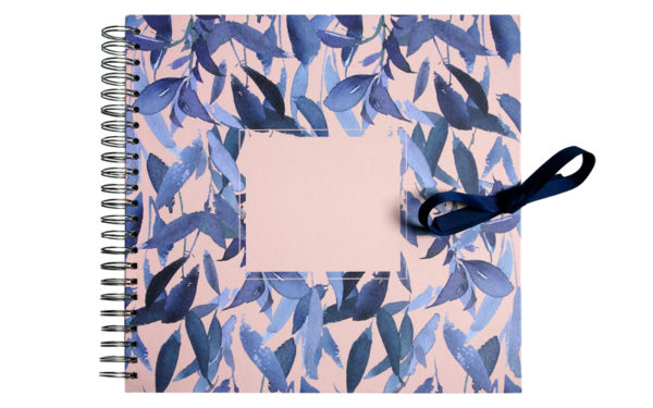 Scrapbook,Plakboek, Fotoboek 'Feathers blue'