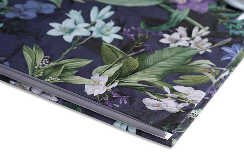 Plakboek Floral Blue