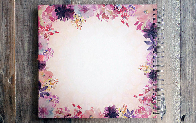 Srapbook, Plakboek, Fotoboek Flower