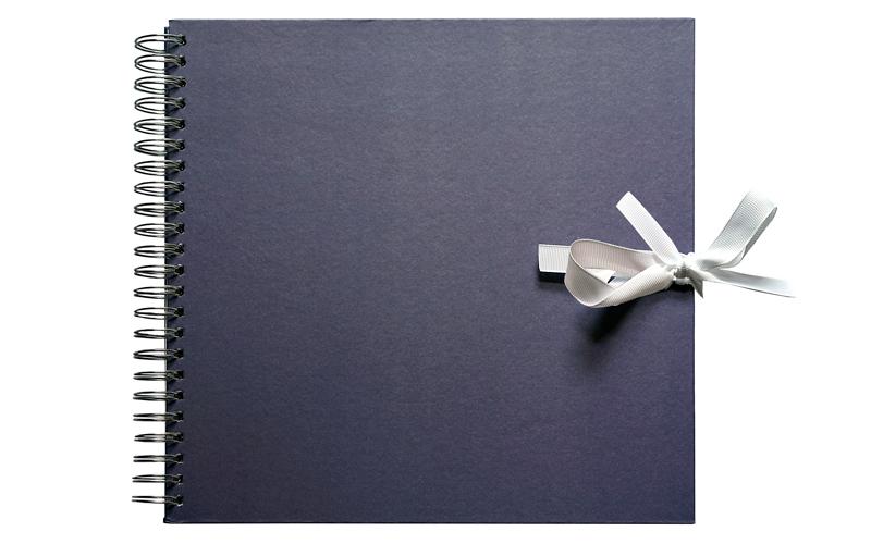 Scrapbook, Plakboek, Paars - Blauw