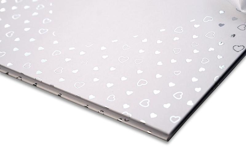 Scrapboek, Plakboek, Fotoboek, zilveren hartjes