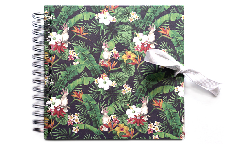 Plakboek - Scrapbook - Fotoboek  Tropical Parot
