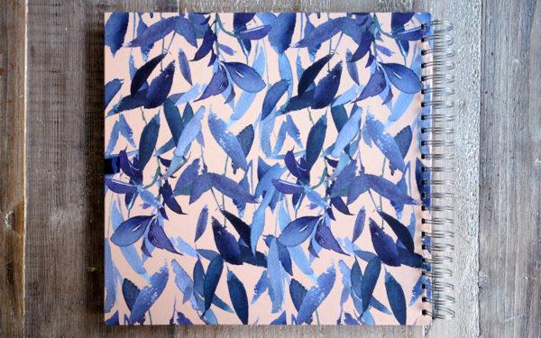 Scrapbook,Plakboek, Fotoboek 'Feathers blue'
