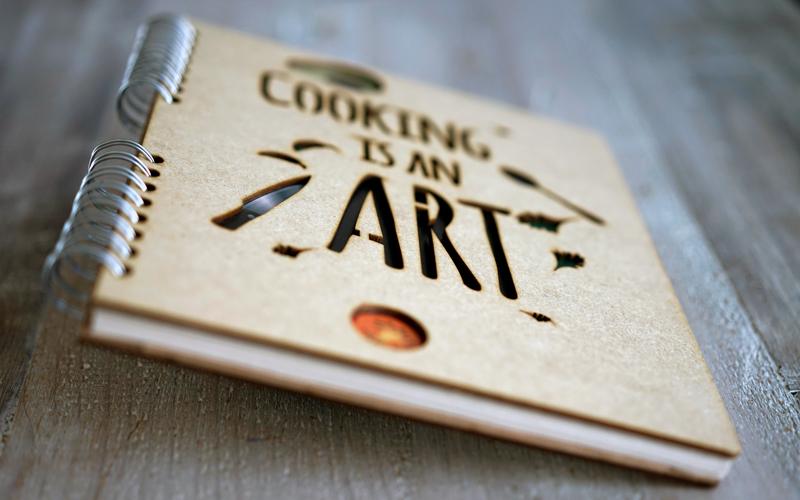 notitieboek 'cooking'