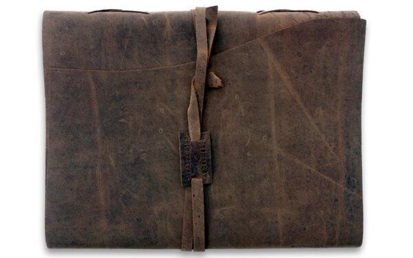 Buffel leren notitieboek A4