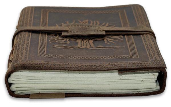 leren notitieboek levensboom
