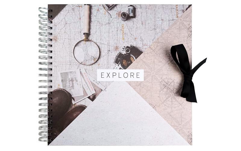 Plakboek,Scrapbook,Fotoboek Explore