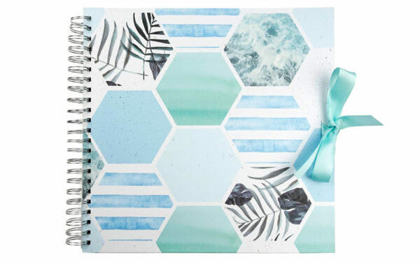 Plakboek Scrapbook Fotoboek Leafs Hexagon