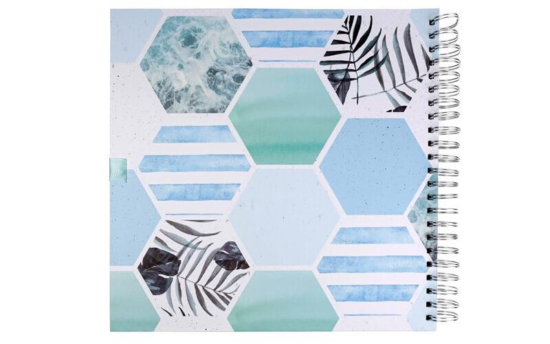 Plakboek Scrapbook Fotoboek Leafs Hexagon