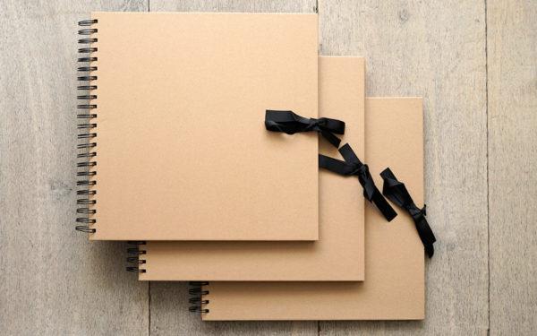 Plakboek - Scrapbook - Fotoboek Universeel Bruin 3 stuks
