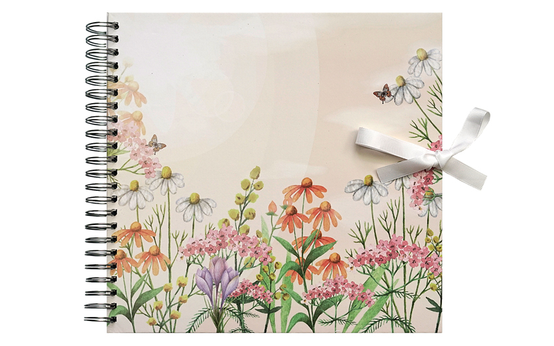 Plakboek - Scrapbook -  Fotoboek   Wild Flowers