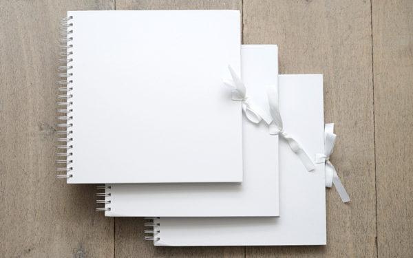 Plakboek - Scrapbook - Fotoboek Wit 3 stuks