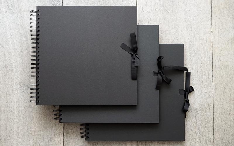 Plakboek - Scrapbook - Fotoboek Zwart 3 stuks