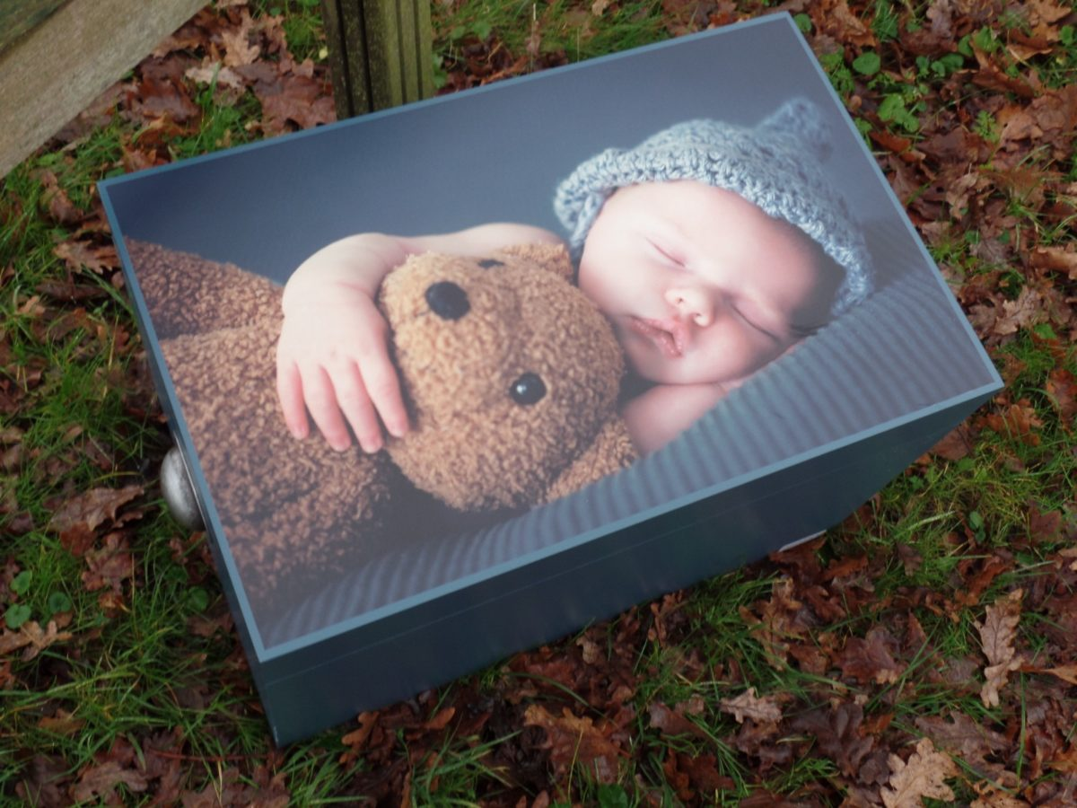 Herinneringskist met baby