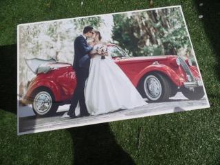 Bewwrkist huwelijk met eigen foto