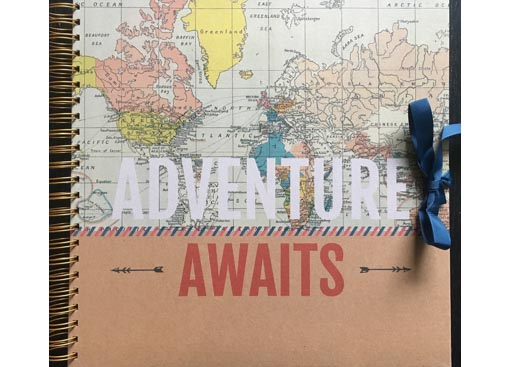 Plakboek/scrapbook Adventure